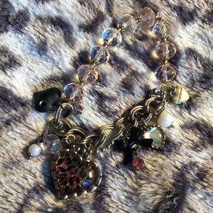 Betsey Johnson charm bracelet- stretchy band